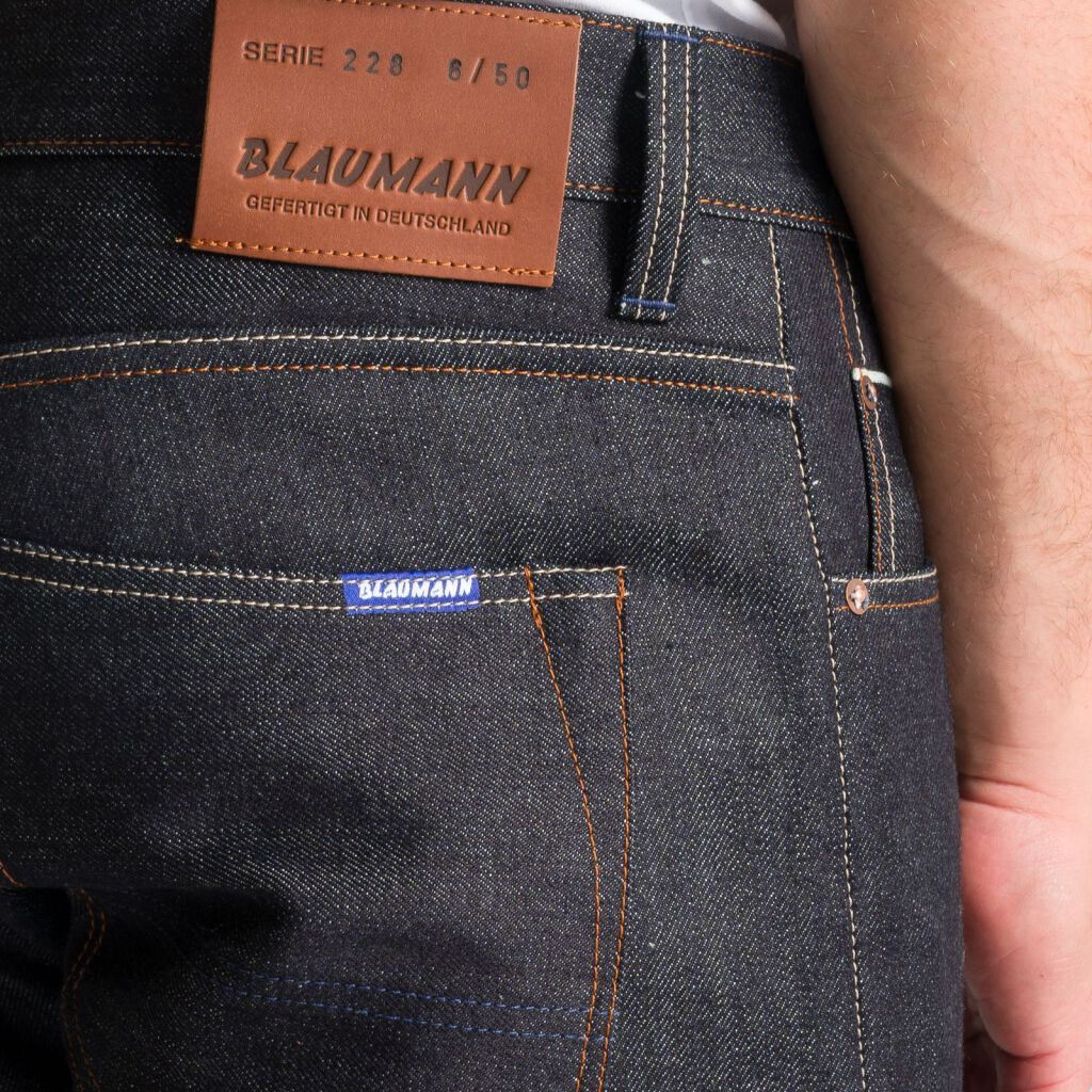 Schmaler Blaumann - 12,5 oz - white selvage - raw