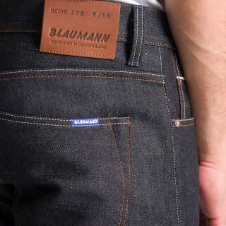 Schmaler Blaumann - 12,5 oz - white selvage - raw Thumbnail 3