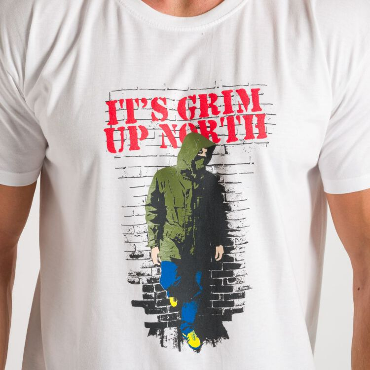 Grim Up North T-Shirt - weiß