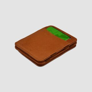Magic Coin Wallet RFID Portemonnaie - hellbraun