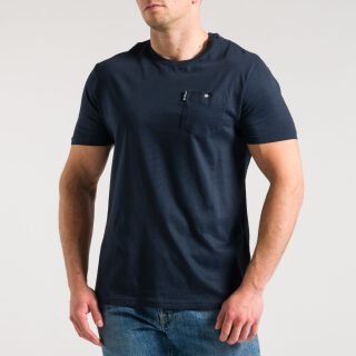 Pocket T-Shirt - navy blau