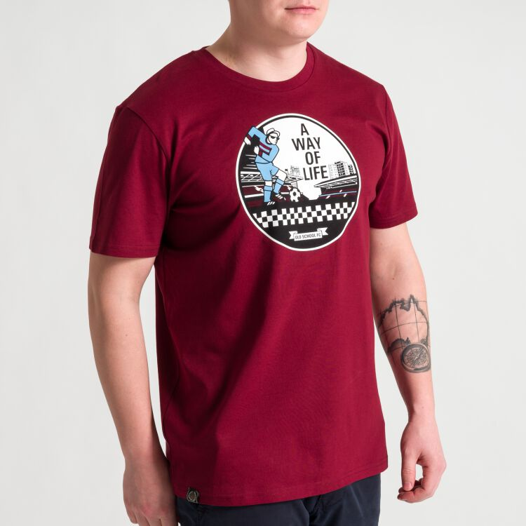 A Way of life T-Shirt - weinrot