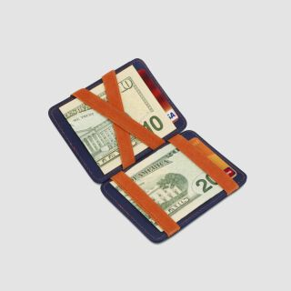 Magic Wallet RFID Portemonnaie - navy blau/orange