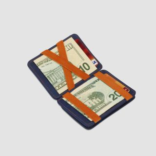 Magic Coin Wallet RFID Portemonnaie - navy blau/orange