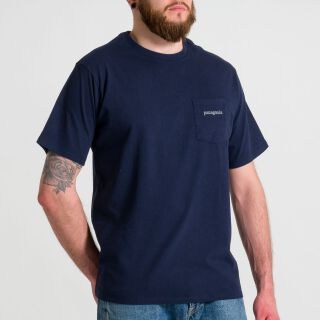Line Logo Ridge Pocket Responsibili T-Shirt - navy blau