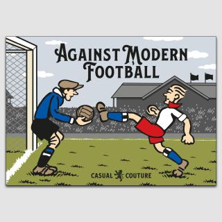 Against Modern Football A3 Poster - weiß/rot/blau