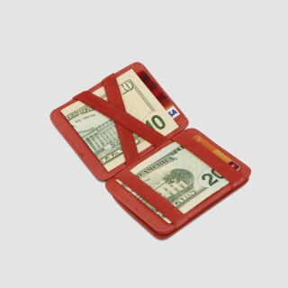 Magic Coin Wallet RFID Portemonnaie - rot