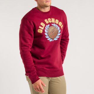 Old School Sweatshirt - weinrot